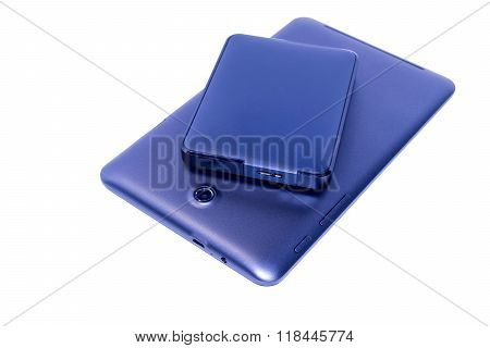 external hard drive with tablet