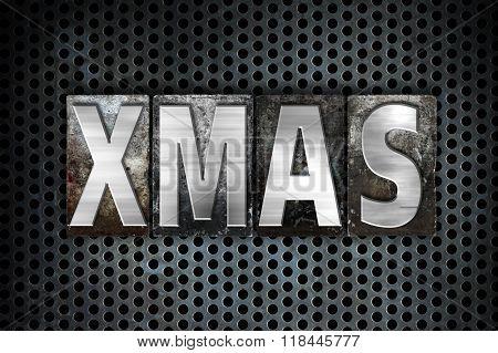 Xmas Concept Metal Letterpress Type
