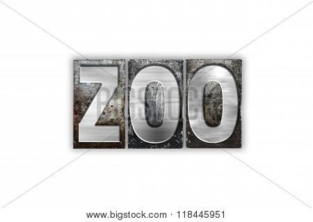 Zoo Concept Isolated Metal Letterpress Type