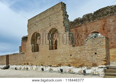 ancient ruins of Roman Odeon, Patras, Peloponnese, Greece