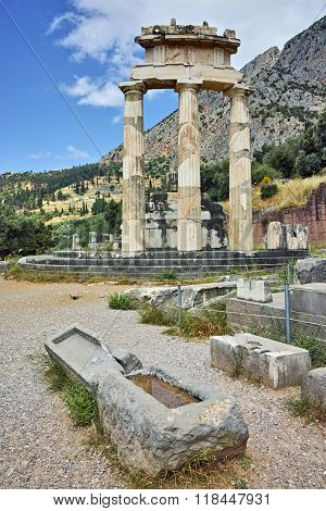 Athena Pronaia Sanctuary at Delphi, Greece