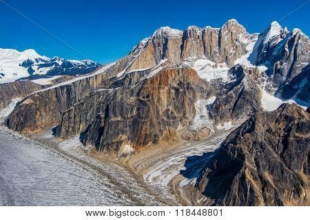 Along The Ruth Glacier