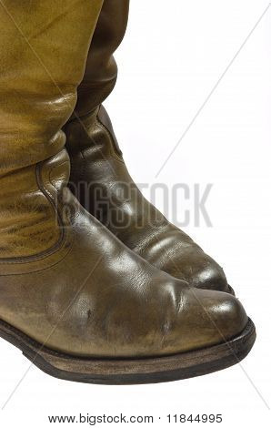 Old worn cowboy style boots