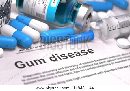 Diagnosis - Gum Disease. Medical Concept.
