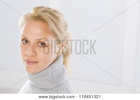 Forty five years old woman face