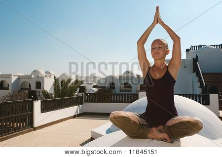 Woman Practicing Padmasana
