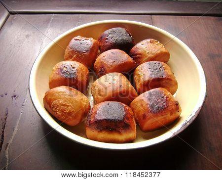 Chinese dessert golden bread mantou