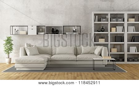 Contemporary White Living Room