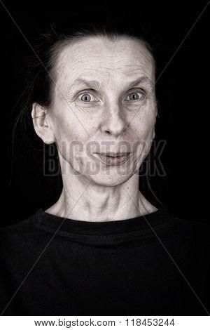 Appreciative Adult Woman Expression Portrait