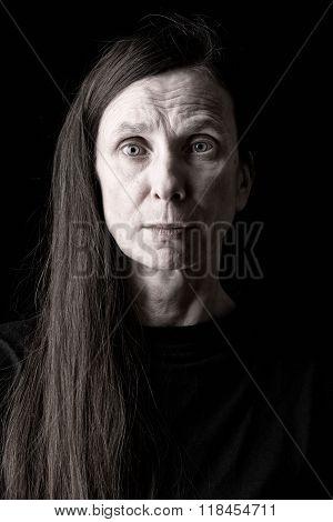 Sad Adult Woman Expression