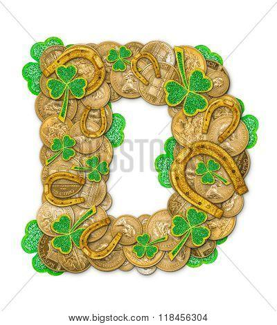 St. Patricks Day Holiday Letter D