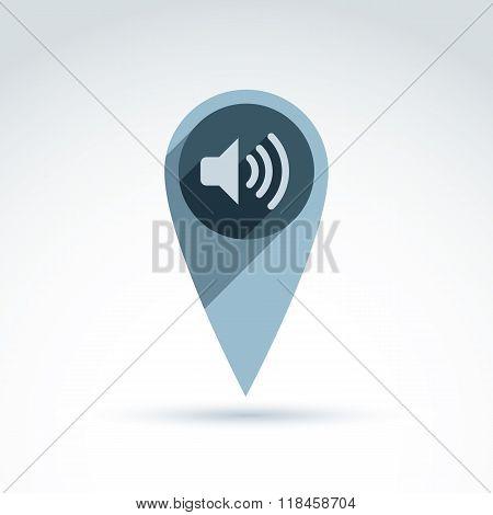 Dissemination of information theme icon faq support vector conceptual unusual symbol for your design.