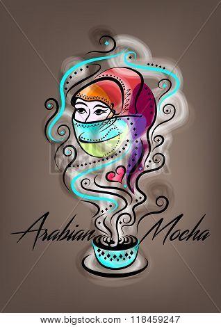 Arabian Mocha Fantasy Poster