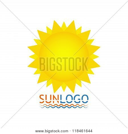 Sun Icon. Sun Logo. Summer Design. Vector Illustration
