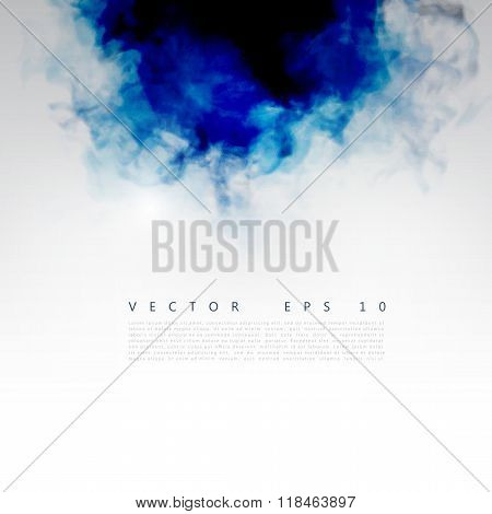 Vector blue cloud.