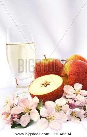 Cider and apple - still-life