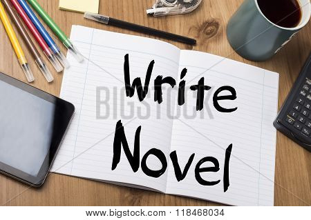Write Novel - Note Pad With Text
