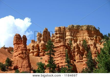 Red Canyon With Clear Blue Sky
