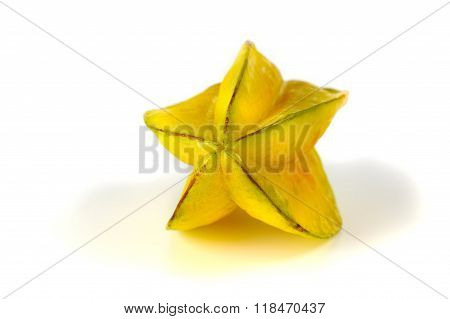 Close Up View Of Carambola On The White