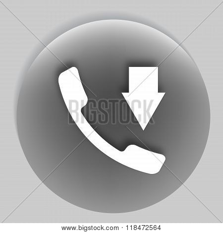 Incoming Call Flat Style Vector Icon