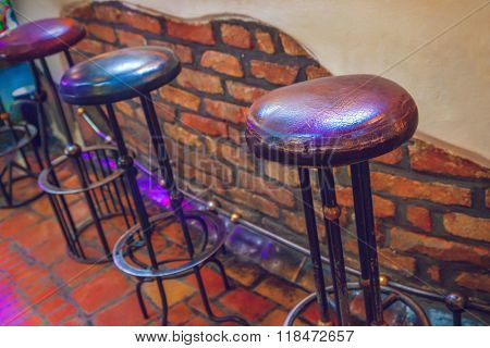 Chairs in restaurant