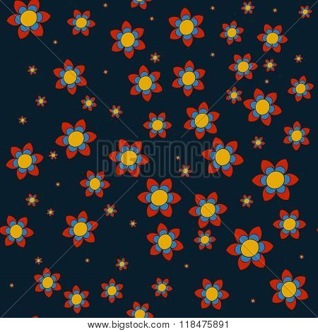 Vector beautiful floral and Paisley traditional ornament seamles