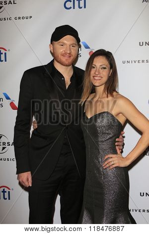 LOS ANGELES - FEB 15:  Eric Paslay, Natalie Harker at the Universal Music Group's 2016 Grammy After Party at the Ace Hotel on February 15, 2016 in Los Angeles, CA