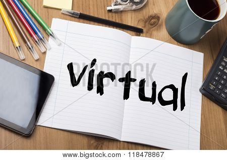 Virtual - Note Pad With Text