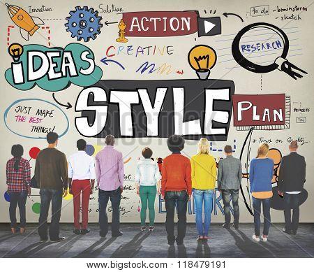 Style Posh Fashion Trendy Fashions Concept