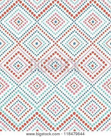 seamless pattern with abstract dotted ornament
