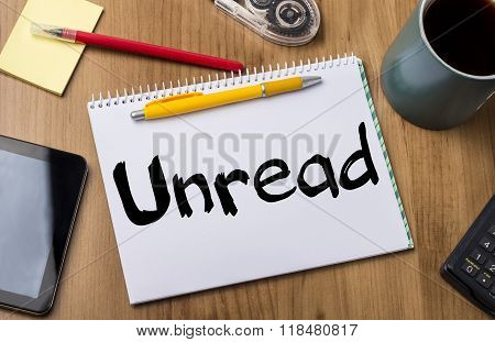 Unread - Note Pad With Text