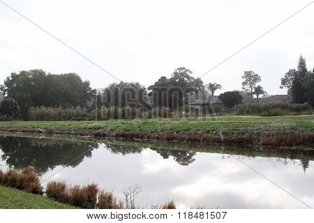 Scenic view of canal