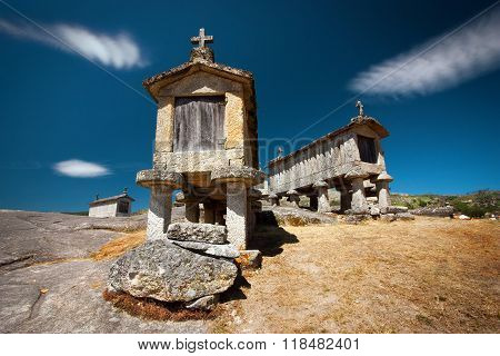 Espigueiros, Or Granary In Sojo In Portugal