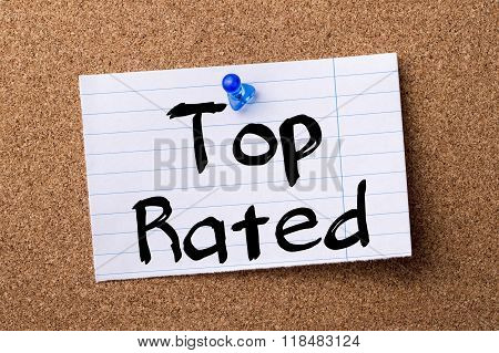 Top Rated - Teared Note Paper Pinned On Bulletin Board