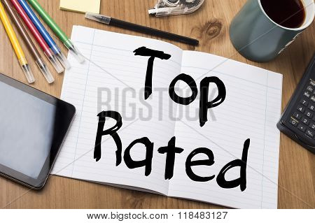 Top Rated - Note Pad With Text