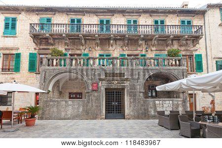 Palace Of Pima Family (17 C.) In Kotor, Montenegro