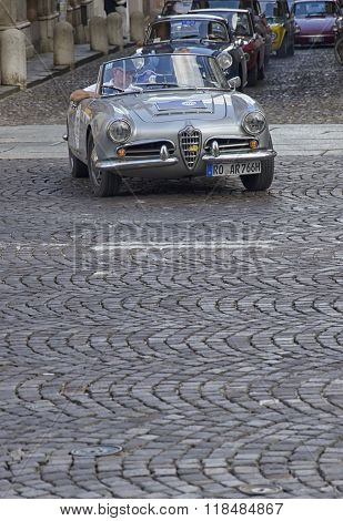 Luxury Car At The Start Of The Nuvolari Grand Prix