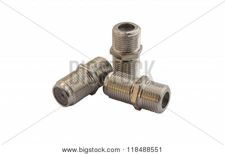 F type Coupler Adapter Isolated