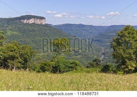 Cai River And Malakoff Mount In Nova Petropolis - Rio Grande Do Sul - Brazil