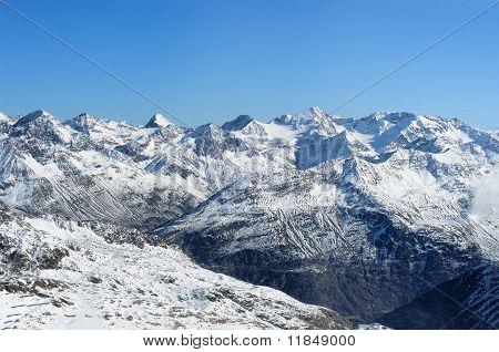 Beautiful Winter Mountains. European Alps