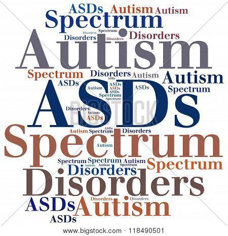 Asds - Autism Spectrum Disorders. Disease Abbreviation Concept.