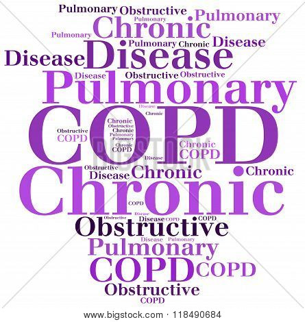 Copd - Chronic Obstructive Pulmonary Disease. Disease Concept.