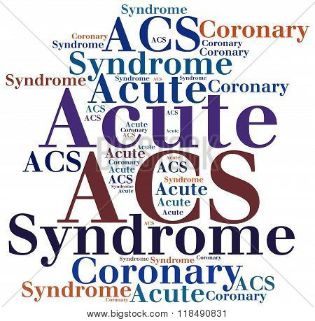 Acs - Acute Coronary Syndrome. Disease Abbreviation Concept.