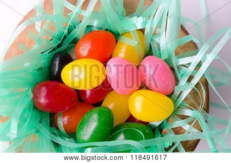 Nest of Colorful Easter Jelly Beans