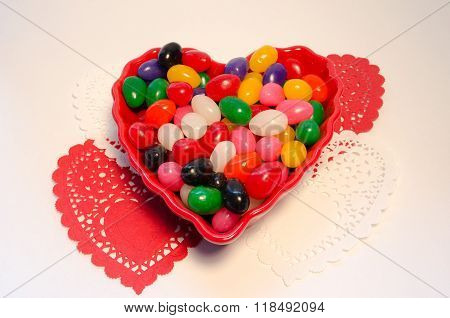 Colorful Jelly Beans With Hearts