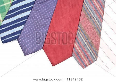 Neck Tie Assortment Background