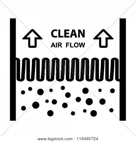 vector air filter effect symbol