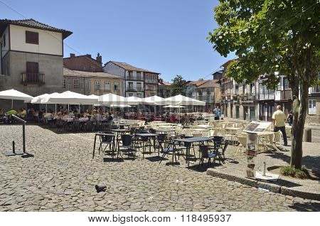Picturesque Square In Guimaraes