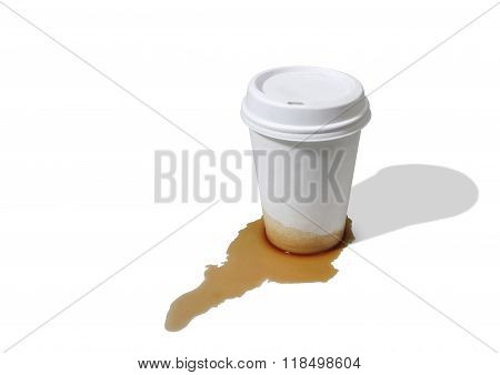 Leaky Paper Takeout Coffee Cup