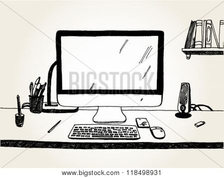 Table with Computer